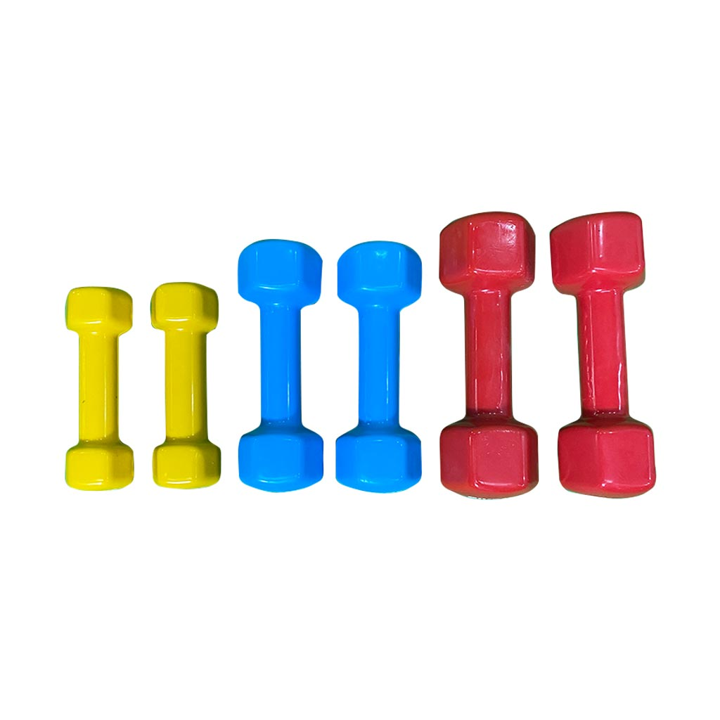 Studio vinyl dumbbell set, Vinyl Dumbbell 7kg, Vinyl Dumbbell 8kg, small dumbbell for fitness classes, vinyl dumbbell, 1kg dumbbell set, 2kg dumbbell set, 3kg dumbbell set, 4kg dumbbell set, 5kg dumbbell set, vinyl coated dumbbell, mini studio dumbbells for home