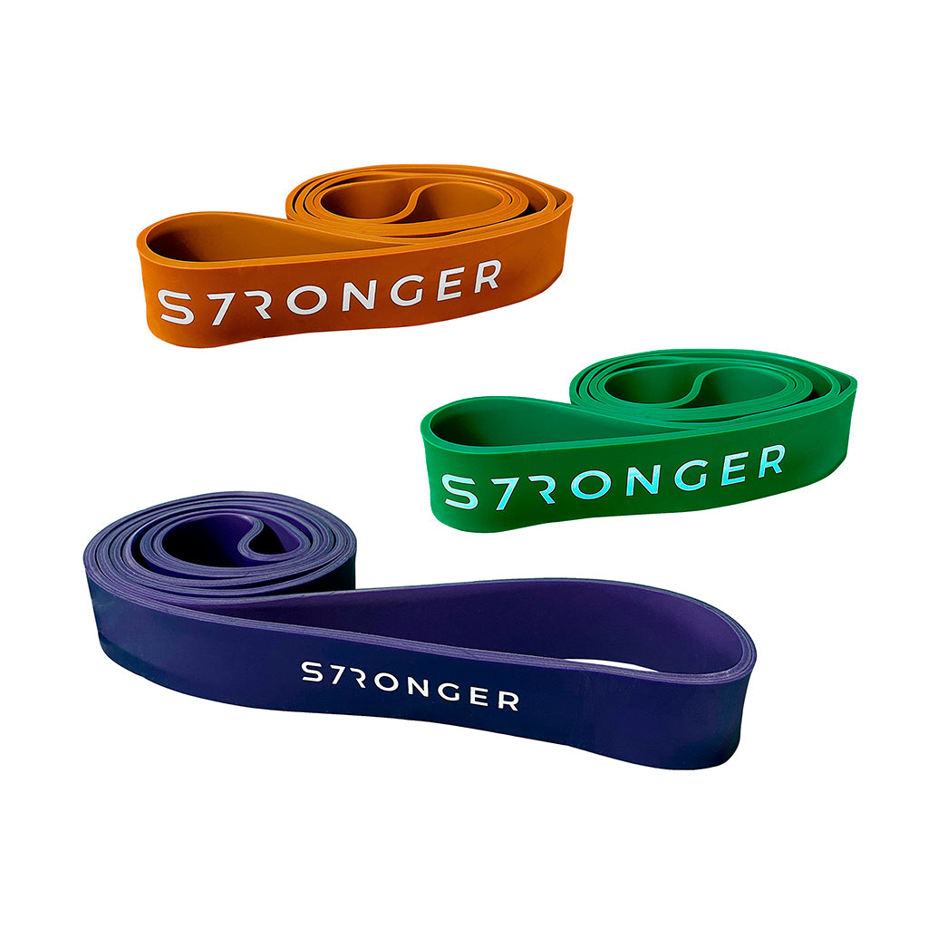 S7R Power Bands, bands to exercise, workout with bands, workout with power bands, buy power bands, power bands UK, power bands London, Purple power band, orange power band, green purple band.