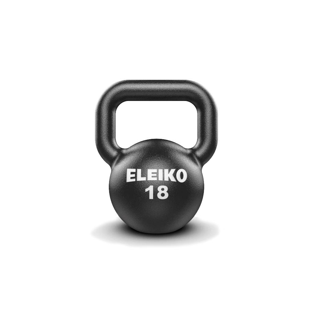 Eleiko Kettlebells, cast iron kettlebell. Eleiko Kettlebell for indoors, weights, eleiko kettlebell buy, eleiko kettlebell sale, gym equipment, workout with kettlebell, kettlebell 18kg
