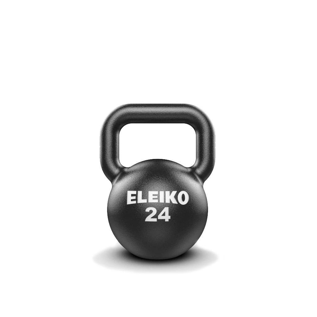 Eleiko Kettlebells, cast iron kettlebell. Eleiko Kettlebell for indoors, weights, eleiko kettlebell buy, eleiko kettlebell sale, gym equipment, workout with kettlebell, kettlebell 24kg