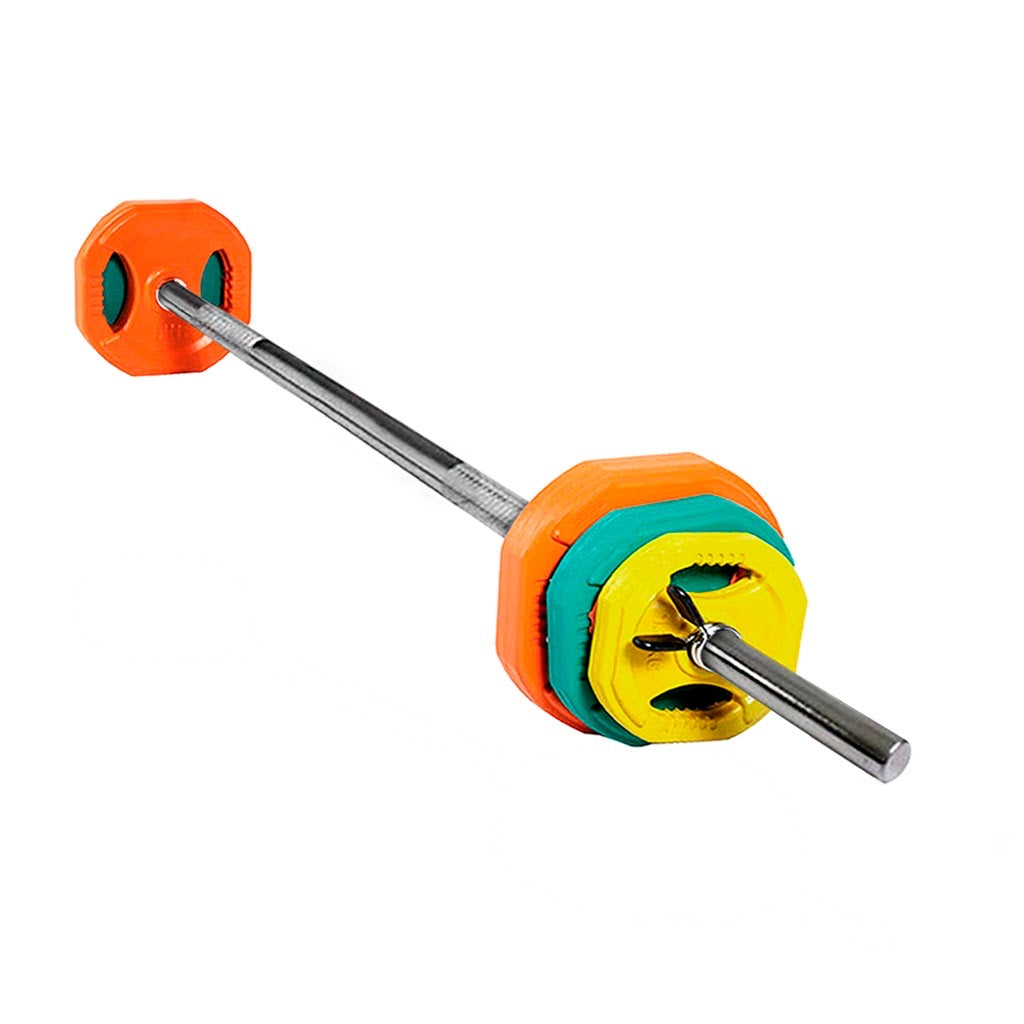 Rubber barbell set, barbell set with extra load capacity, Barbell, buy barbell set UK, home gym equipment, home gym, gym at home, barbell to train at home.