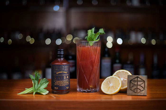 Bloody Mary on display at the LAIBA speakeasy bar