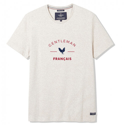 T-shirt Gentleman Français beige - Do you speak français ?