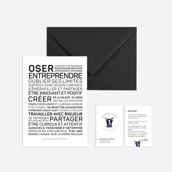 Carte avec enveloppe - Oser entreprendre - Do you speak français ?