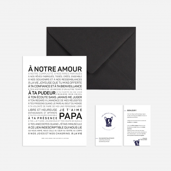 Carte avec enveloppe - Papa - Do you speak français ?