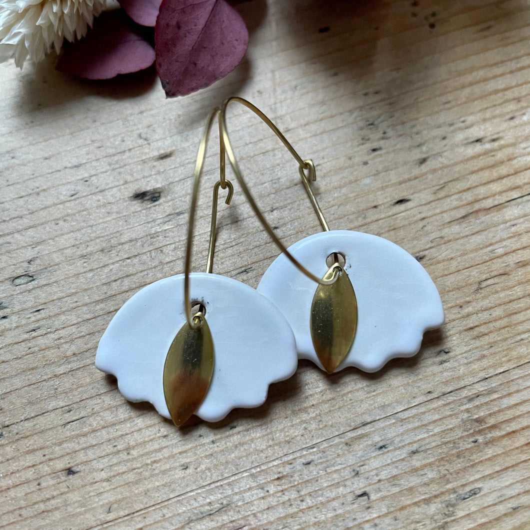 Boucles d'oreilles en céramique Dunes blanches - Do you speak français ?