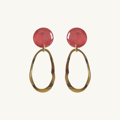 Boucles d'oreilles Carmen rouge rosé - Do you speak français ?