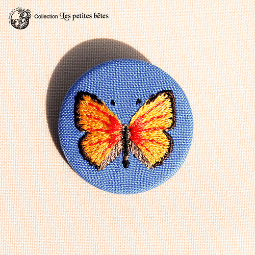 Broche petit format Papillon cuivré - Do you speak français ?