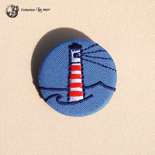 Broche petit format Phare - Do you speak français ?