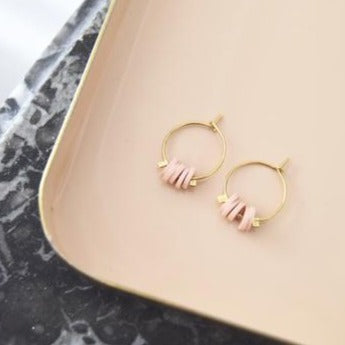 Boucles d'oreilles Sixtine nude - Do you speak français ?