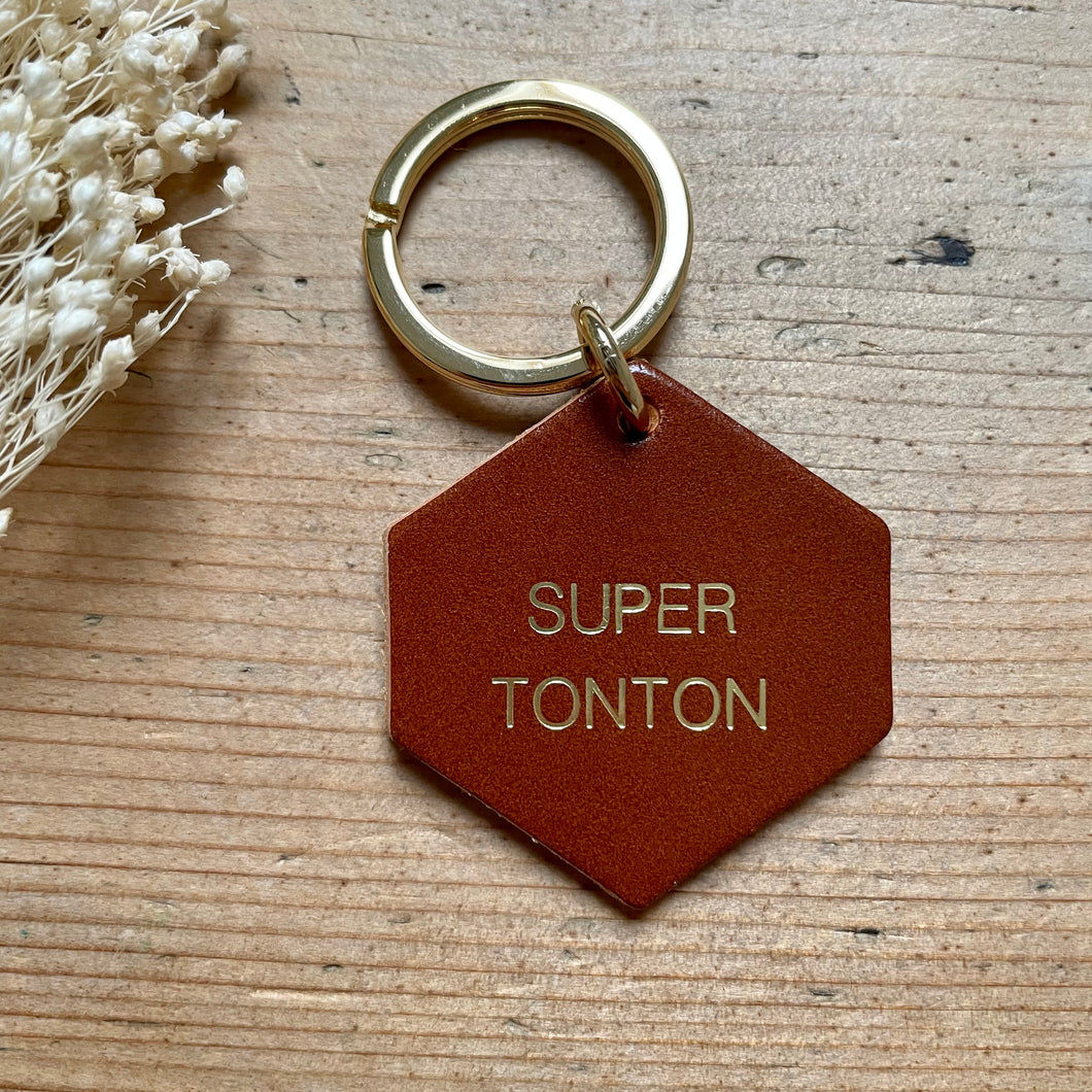 Porte-clés Super tonton - Do you speak français ?