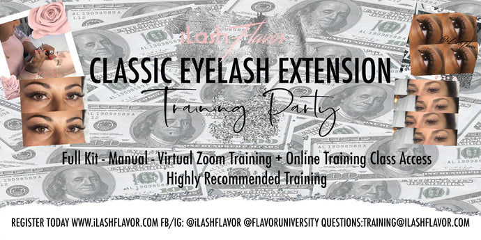 Virtual Eyelash Party Training Kit (with free online and zoom training 1/22)