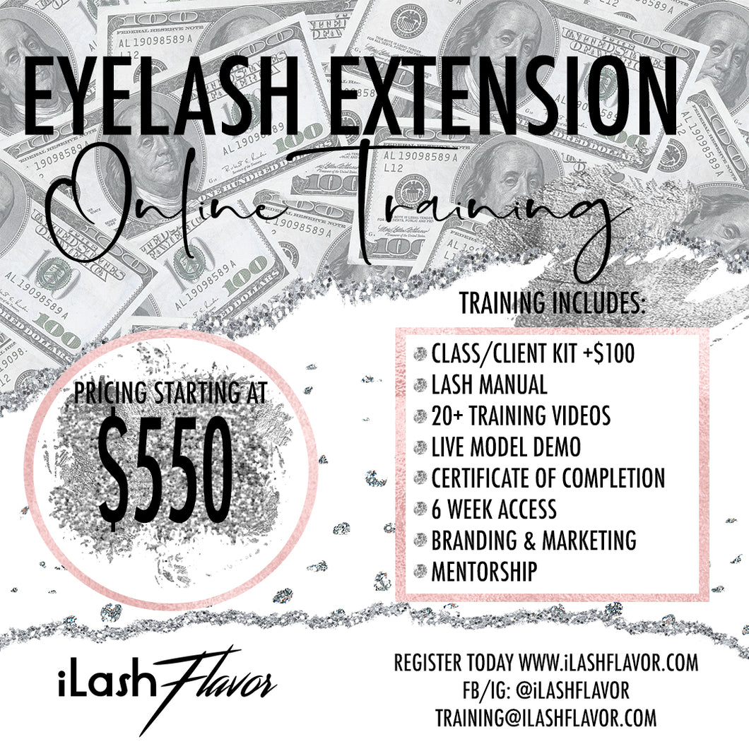 Onine iLash Flavor Classic Lash Training (No Kit Included)