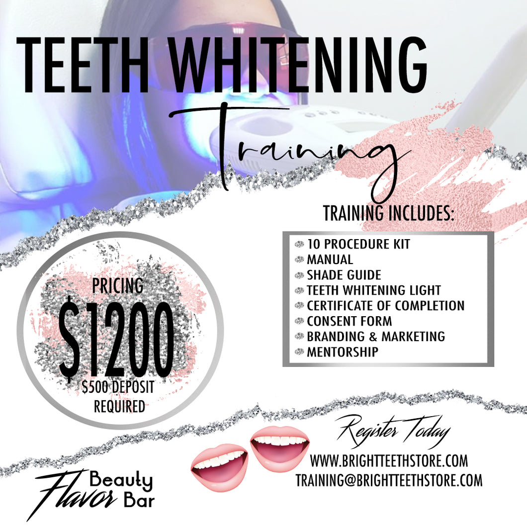Flavor Beauty Bar Teeth Whitening Training Kit w| Training in your city
