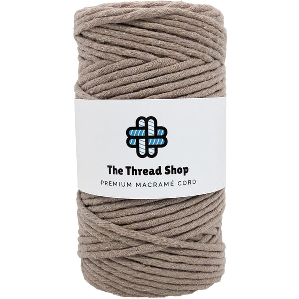 Coffee 3mm, 100m Thread Shop Macramé Cord