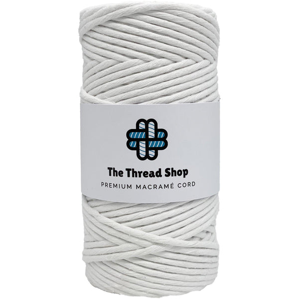 Brilliant White 3mm, 100m Thread Shop Macramé Cord