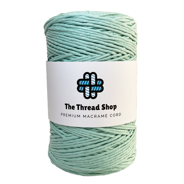 Mint 4mm, 300m Thread Shop Macramé Cord