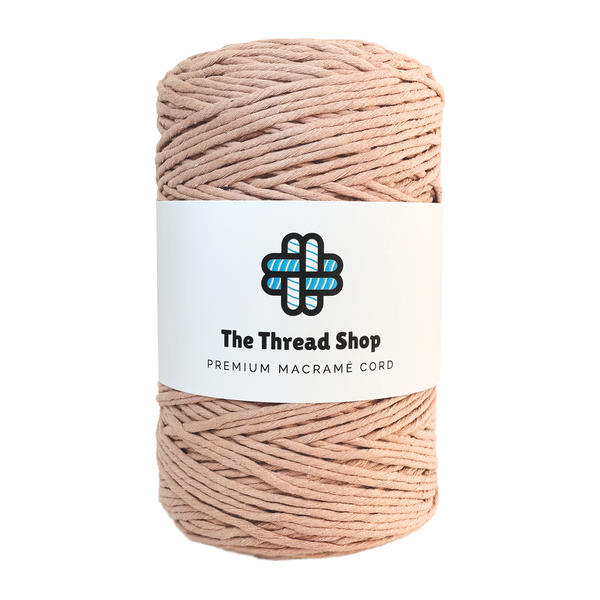 Powder Pink 4mm, 300m Thread Shop Macramé Cord