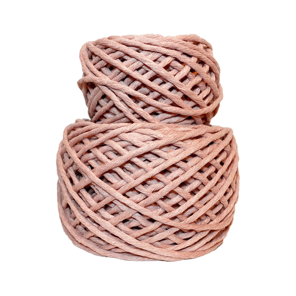 Powder Pink 4mm, 20m/50m Thread Shop Macramé Cord