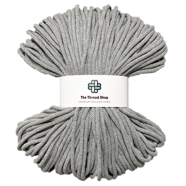Light grey 5mm, 100m Thread Shop Braided Cord