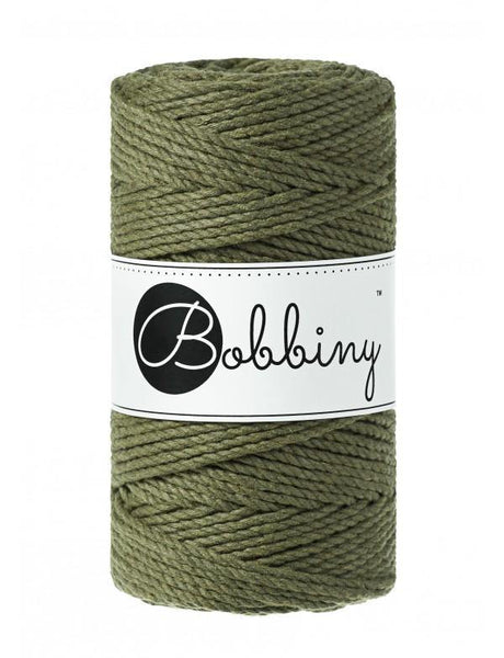 Avocado 3PLY 3mm, 100m Bobbiny Macramé Cord - The Thread Shop