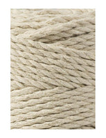 Beige 3PLY 3mm, 100m Bobbiny Macramé Cord - The Thread Shop