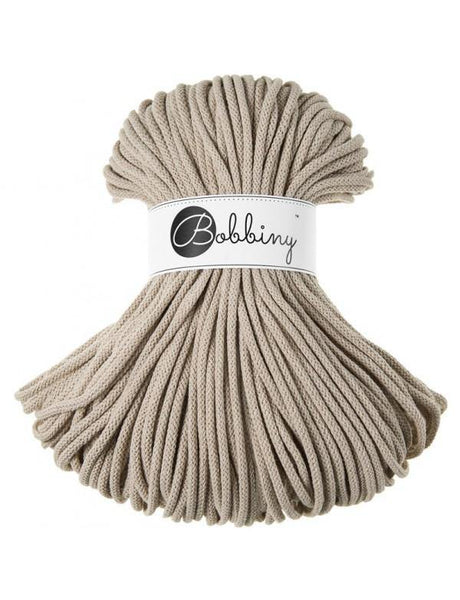 Beige 5mm, 100m Bobbiny Braided Cord - The Thread Shop