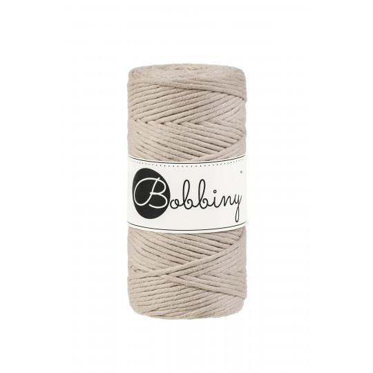 Beige 3mm, 100m Bobbiny Macramé Cord - The Thread Shop