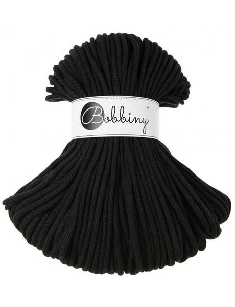 Black 5mm, 100m Bobbiny Braided Cord - The Thread Shop