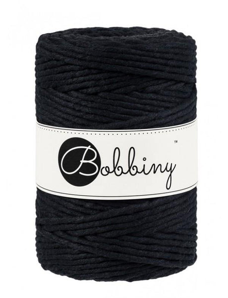 Black 5mm, 100m Bobbiny Macramé Cord - The Thread Shop