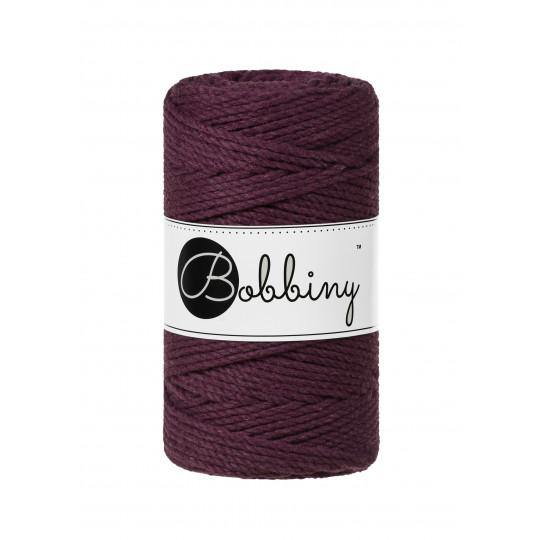 Blackberry 3PLY 3mm, 100m Bobbiny Macramé Cord - The Thread Shop