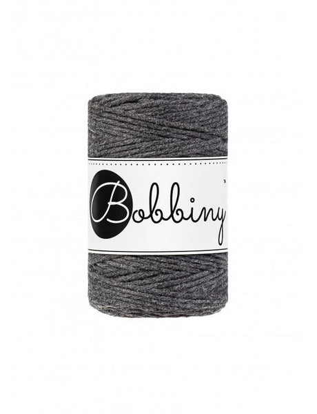 Charcoal 1.5mm, 100m Bobbiny Macramé Cord - The Thread Shop