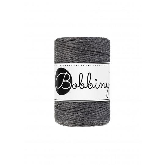 Charcoal 1.5mm, 20m Bobbiny Macramé Cord - The Thread Shop