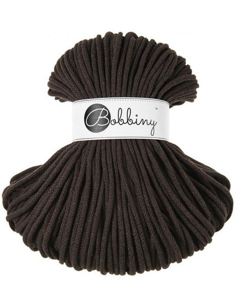 Chocolate 5mm, 100m Bobbiny Braided Cord - The Thread Shop