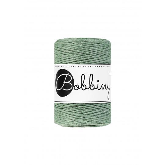 Eucalyptus Green 1.5mm, 20m Bobbiny Macramé Cord - The Thread Shop