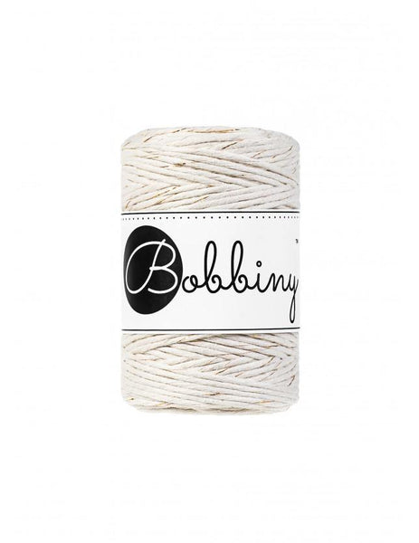 Golden Natural 1.5mm, 100m Bobbiny Macramé Cord - The Thread Shop