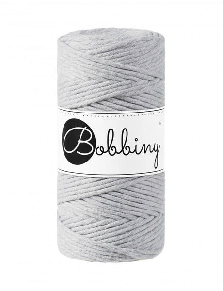 Light Grey 3mm, 100m Bobbiny Macramé Cord - The Thread Shop