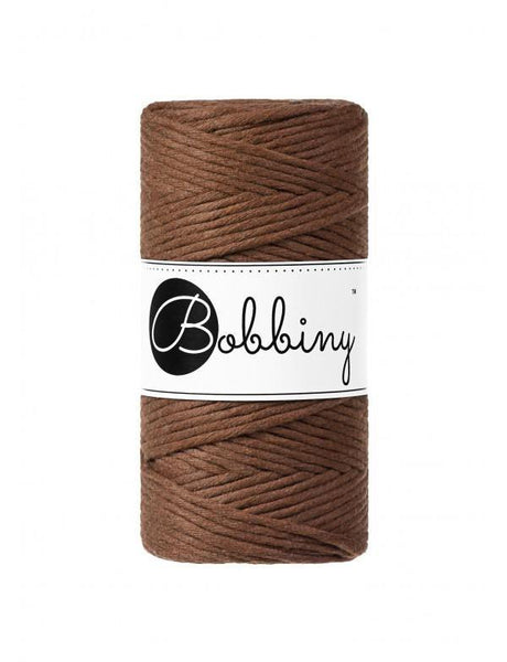 Mocha 3mm, 100m Bobbiny Macramé Cord - The Thread Shop