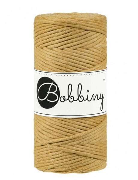 Mustard 3mm, 100m Bobbiny Macramé Cord - The Thread Shop