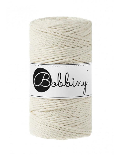 Natural 3PLY 3mm, 100m Bobbiny Macramé Cord - The Thread Shop