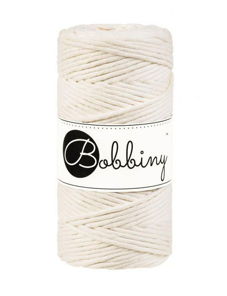 Natural 3mm, 100m Bobbiny Macramé Cord - The Thread Shop