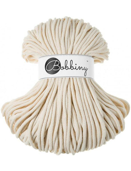 Natural 5mm, 100m Bobbiny Braided Cord - The Thread Shop