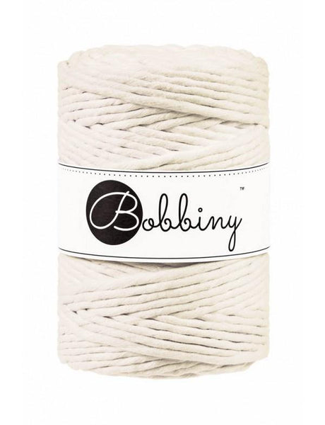 Natural 5mm, 100m Bobbiny Macramé Cord - The Thread Shop