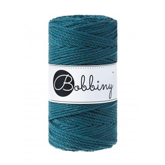 Peacock Blue 3PLY 3mm, 100m Bobbiny Macramé Cord