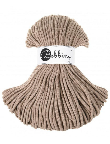 Sand 5mm, 100m Bobbiny Braided Cord - The Thread Shop