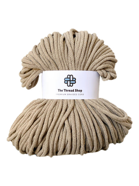 Sand 5mm, 100m Thread Shop Braided Cord