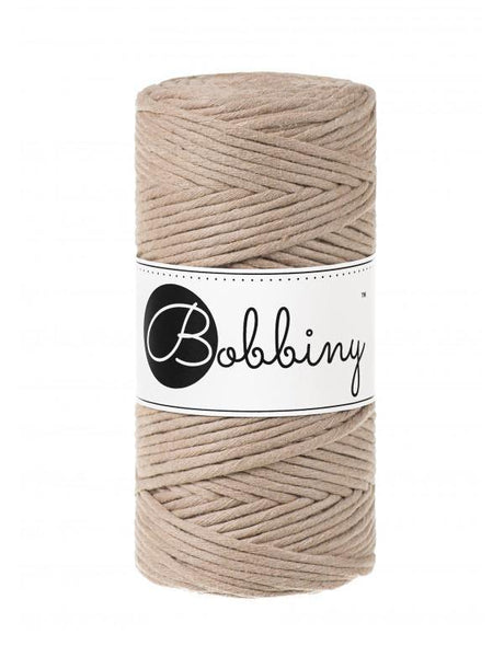 Sand 3mm, 100m Bobbiny Macramé Cord - The Thread Shop