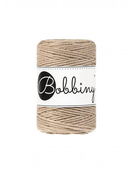 Sand 1.5mm, 100m Bobbiny Macramé Cord - The Thread Shop