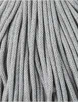 Silver 5mm, 100m Bobbiny Braided Cord - The Thread Shop
