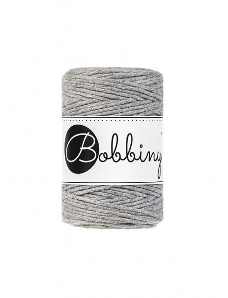 Silver 1.5mm, 100m Bobbiny Macramé Cord - The Thread Shop